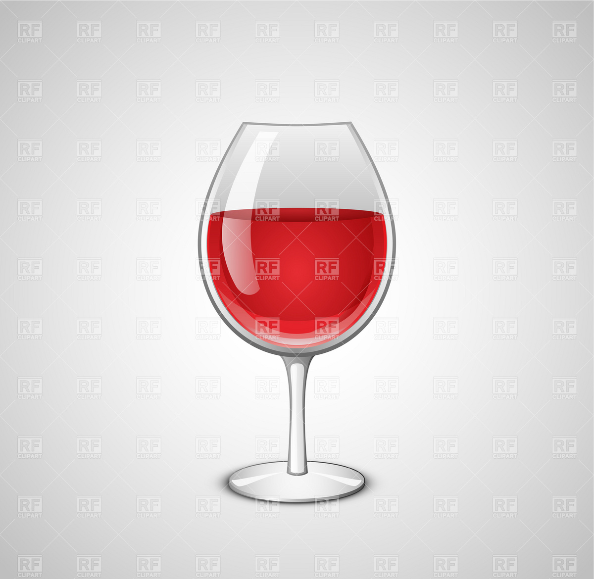 Wine Glass Vector Illustration  Wineglass With Red Wine 6055 Food