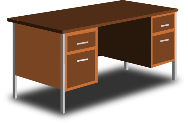 An Office Desk Clip Art At Clker Com   Vector Clip Art Online Royalty