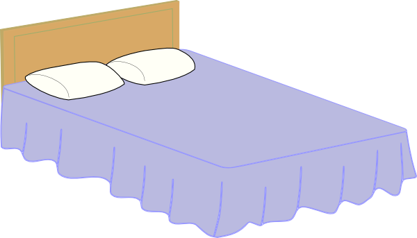 Bed 2 Clip Art At Clker Com   Vector Clip Art Online Royalty Free