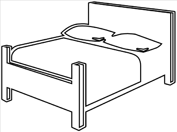 Bed Outline Clip Art At Clker Com   Vector Clip Art Online Royalty