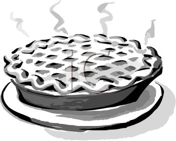 Black And White Clip Art Of A Hot Pie   Foodclipart Com