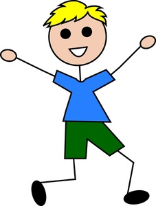 Boy Clipart Image   Happy Little Boy Stick Kid