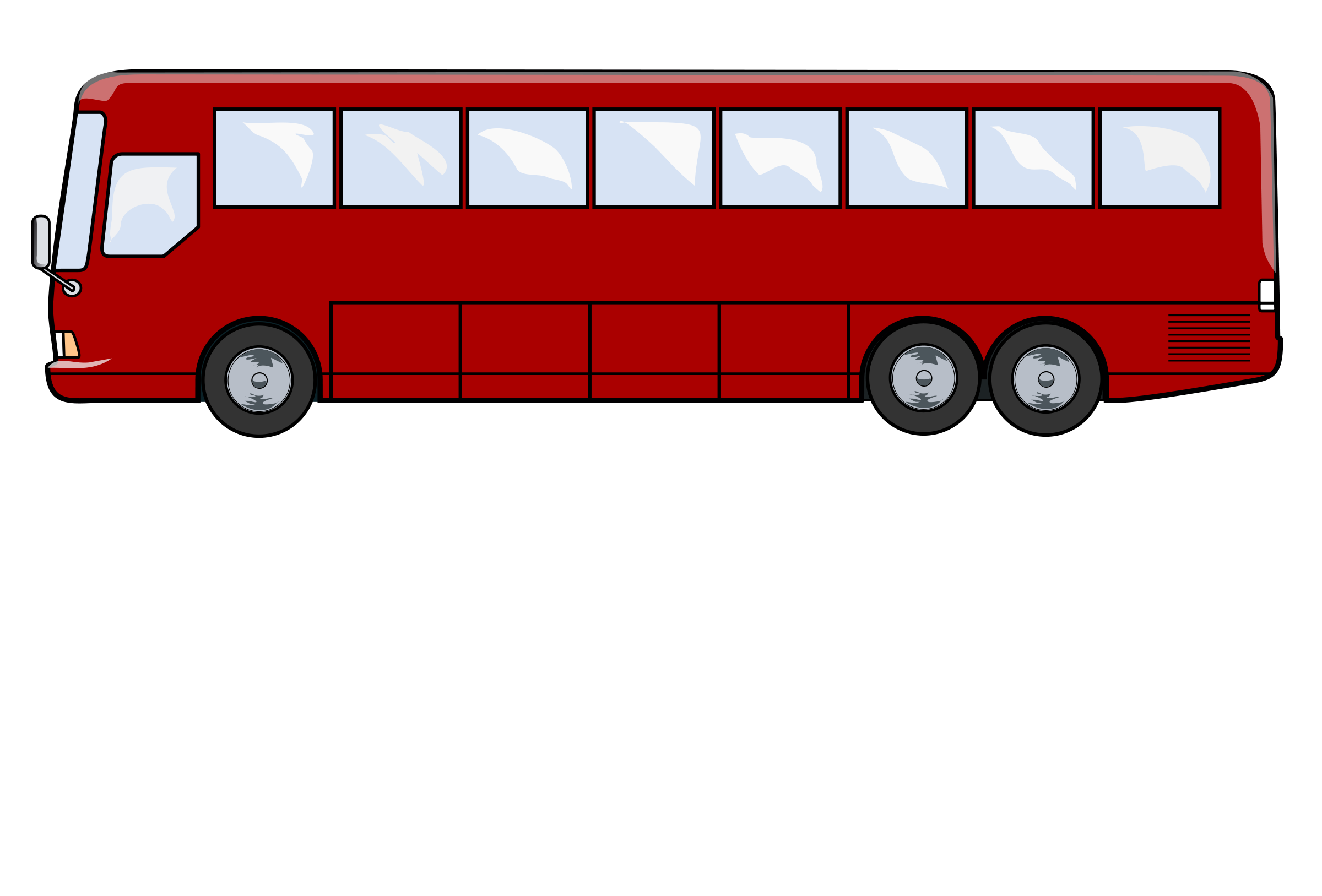 Red Shuttle Bus Clipart - Clipart Kid