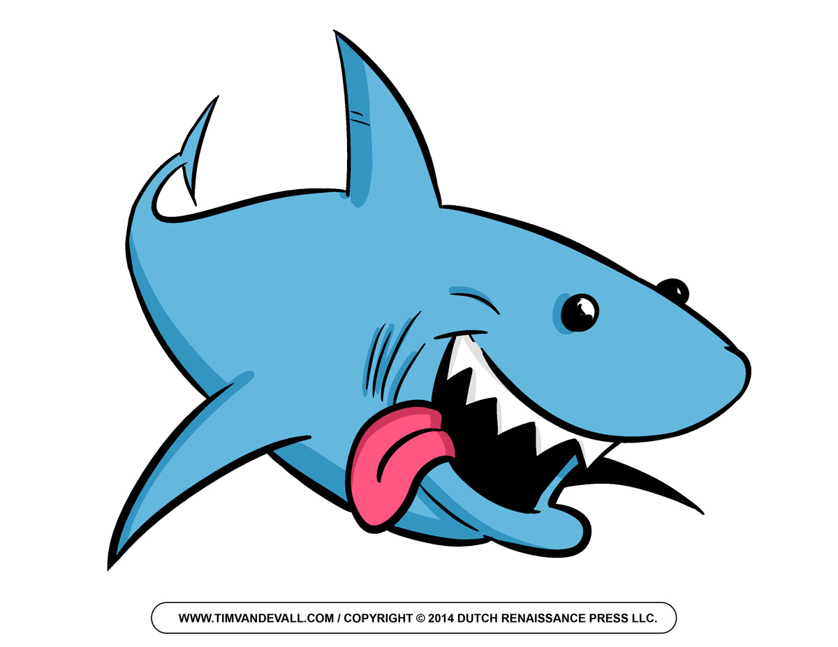 Cartoon Shark Clipart For Kids Shark Outline And Shark Silhouette