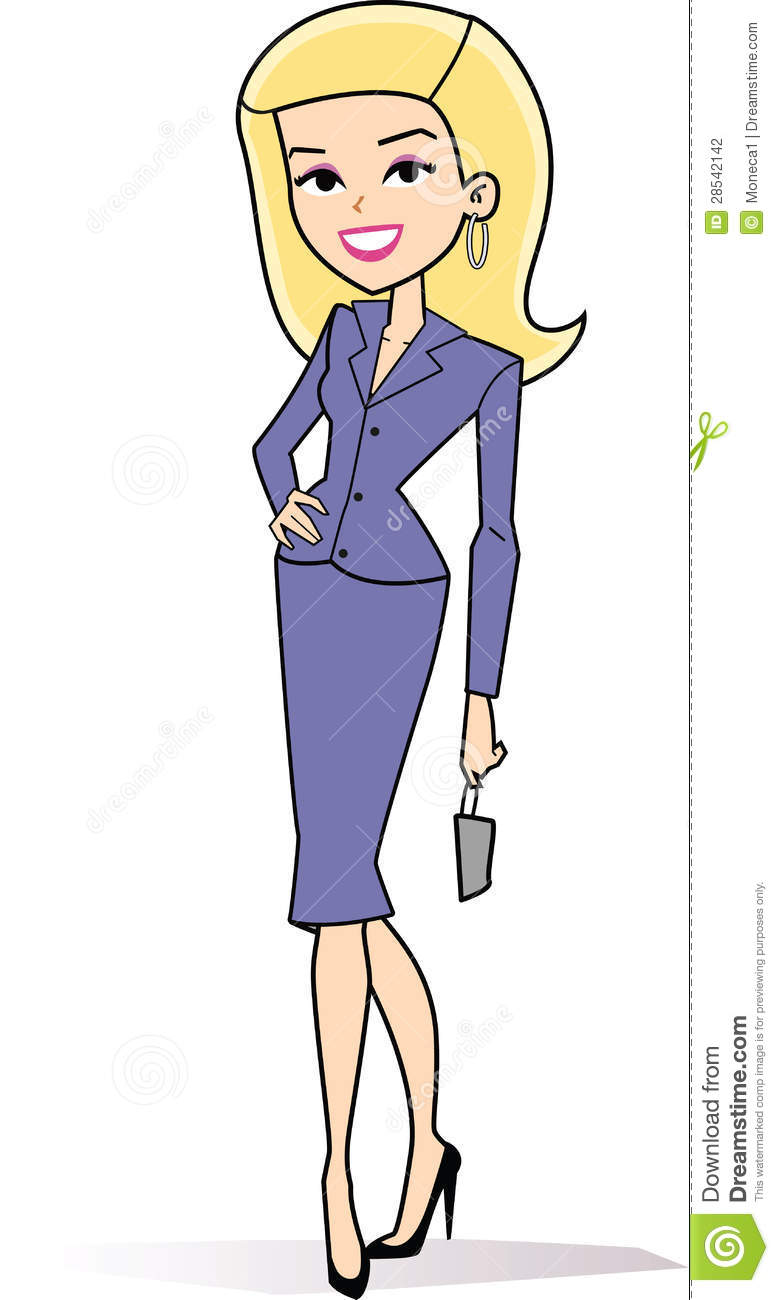 Cartoon Woman Clipart Retro Style Drawing 28542142 Jpg