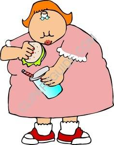 Clipart Of Fat Girl