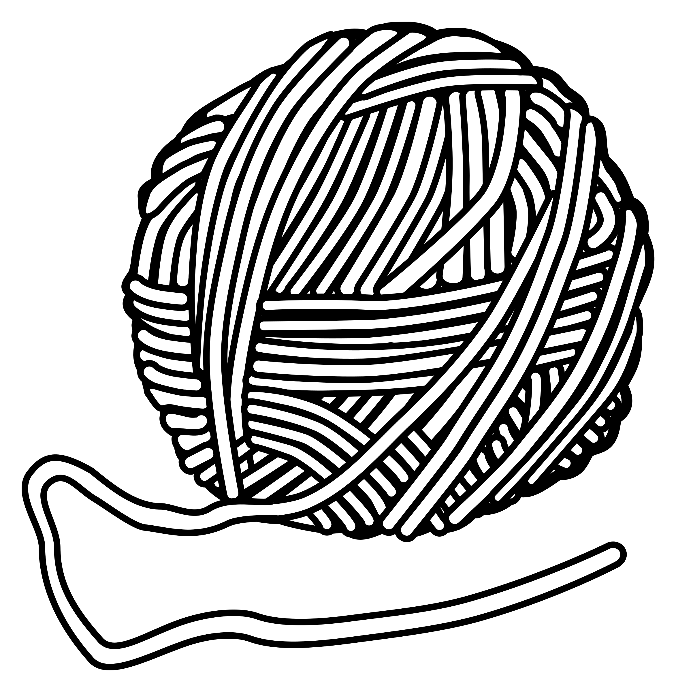 Clipart   Wool   Lineart