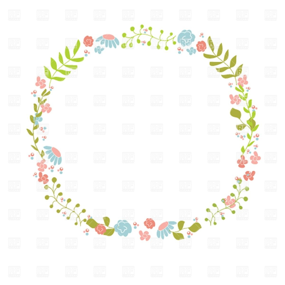Cute Floral Wreath 30517 Borders And Frames Download Royalty Free