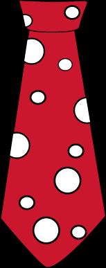 Dot Tie Clip Art   Red Tie