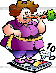 Fat Lady   Vector Eps Clipart