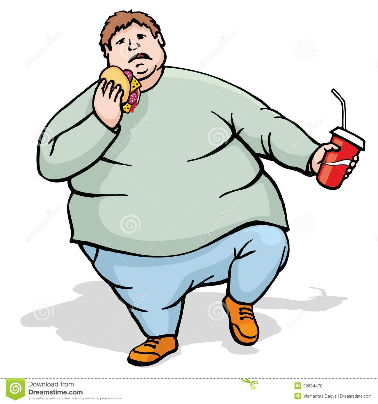 Fat Man Clipart...
