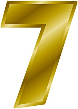 Free Gold Number 7 Clipart   Free Clipart Graphics Images And Photos