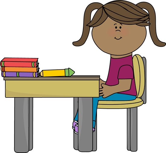Girl Student At Desk Clipart   Clipart Panda   Free Clipart Images