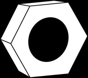 Hex Nut For Bolts Clip Art At Clker Com   Vector Clip Art Online