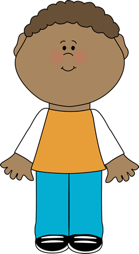 Little Boy Clip Art Image   Little Boy In Tshirt And Denim Pants
