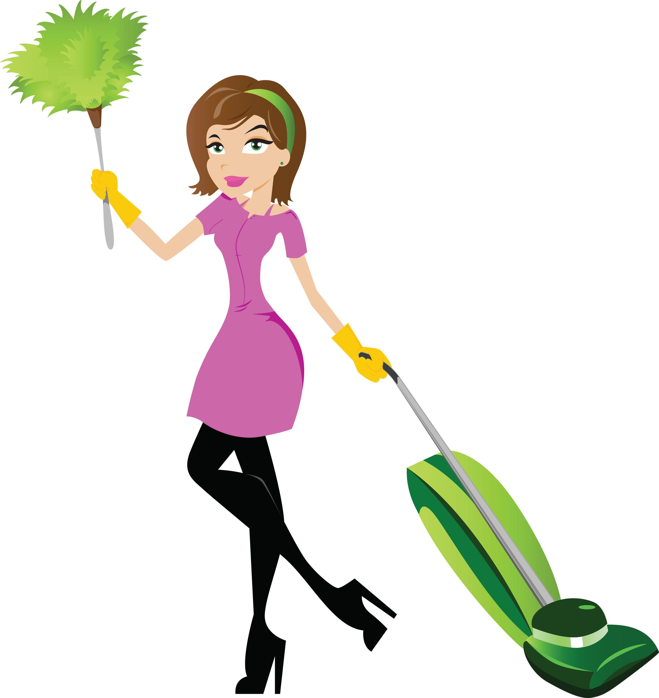 Cartoon cleaning lady clipart clipart suggest - Limpieza de la casa ...