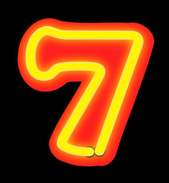 7 clipart clipart suggest 7 clipart neon 7 clipart png