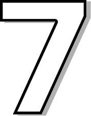 Number 7 Outline    Signs Symbol Alphabets Numbers Outlined Numbers