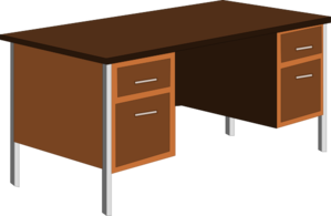 Office Desk Clip Art At Clker Com   Vector Clip Art Online Royalty