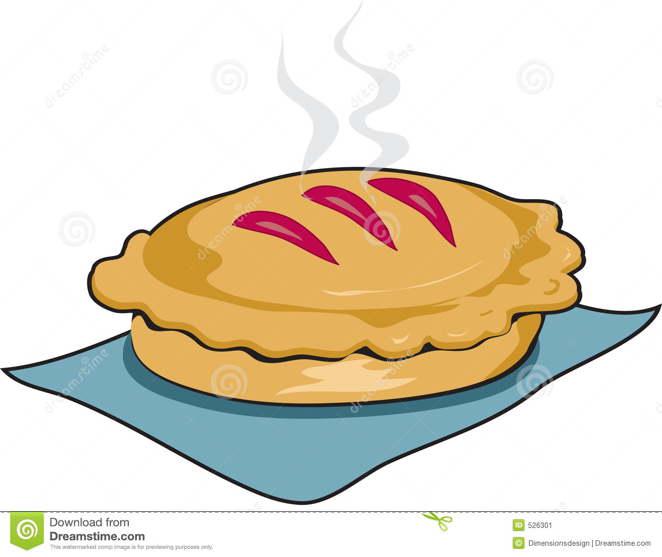 Pie Clip Art Fresh Baked Pie With Outline Stock Image Image