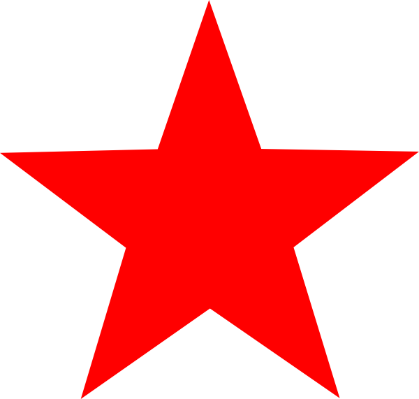 Red Star Clip Art At Clker Com   Vector Clip Art Online Royalty Free