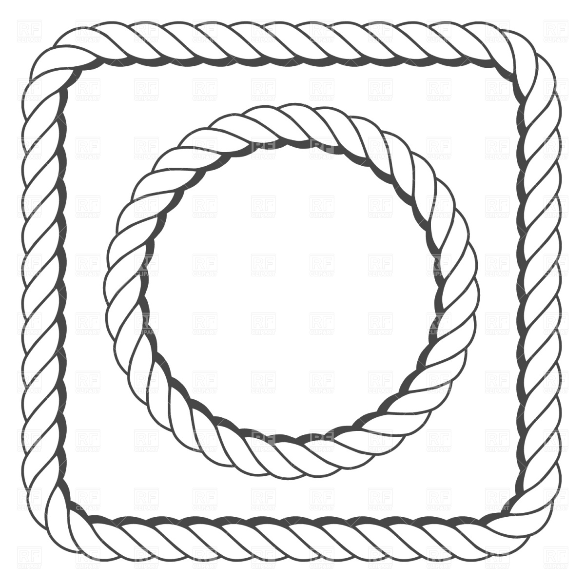 Rope Frame 1096 Download Royalty Free Vector Clipart  Eps