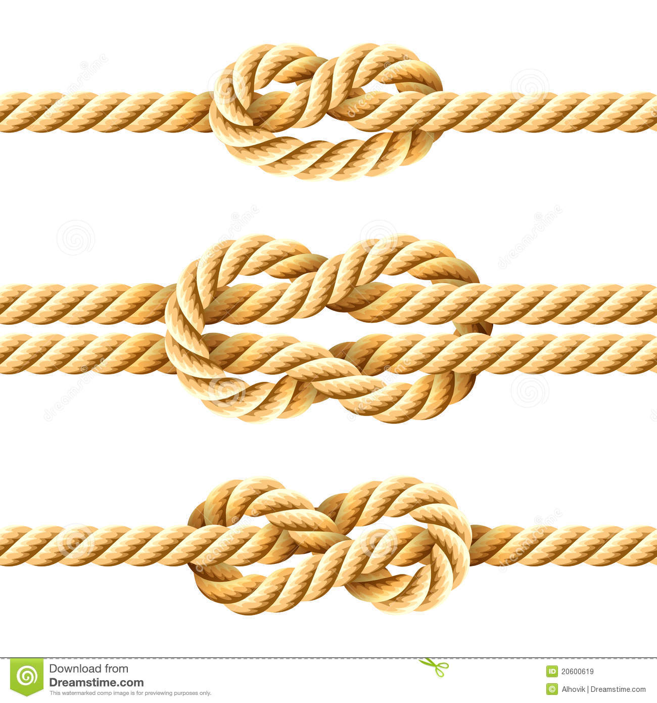 Rope Knots Royalty Free Stock Images   Image  20600619