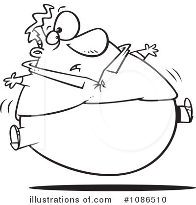 Royalty Free  Rf  Fat Clipart Illustration By Ron Leishman   Stock