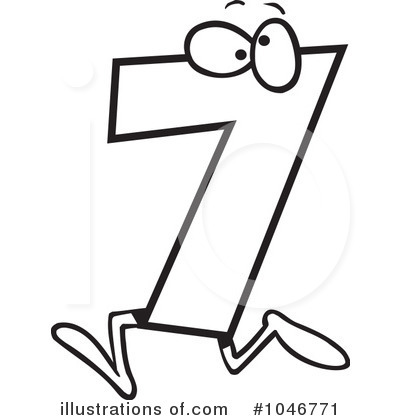 Royalty Free  Rf  Number 7 Clipart Illustration By Ron Leishman