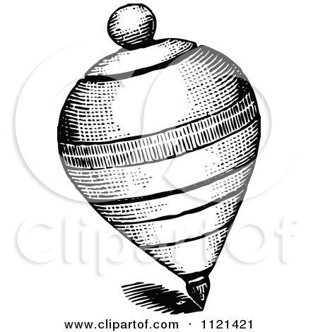 spinning top black and white clipart clipart kid
