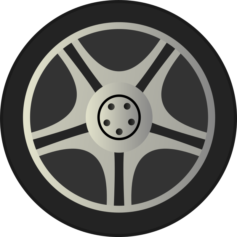 Simple Car Wheel Tire Rims Side View By Qubodup   Just A Wheel Side