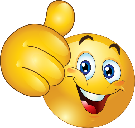 Thumbs Up Happy Smiley Emoticon Clipart Royalty Free