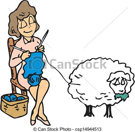 Woman Knitting With Wool     Clipart Panda   Free Clipart Images