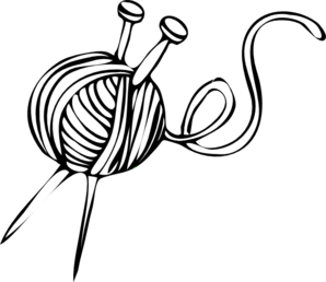 Wool Clipart White Yarn Ball With Knitting Needles Md Png