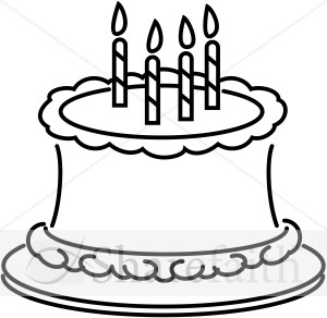 Clip Art Black And White Cake Clipart - Clipart Kid
