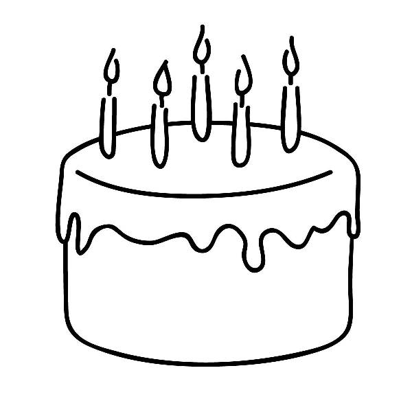 Birthday Cake Clip Art Free Black And White