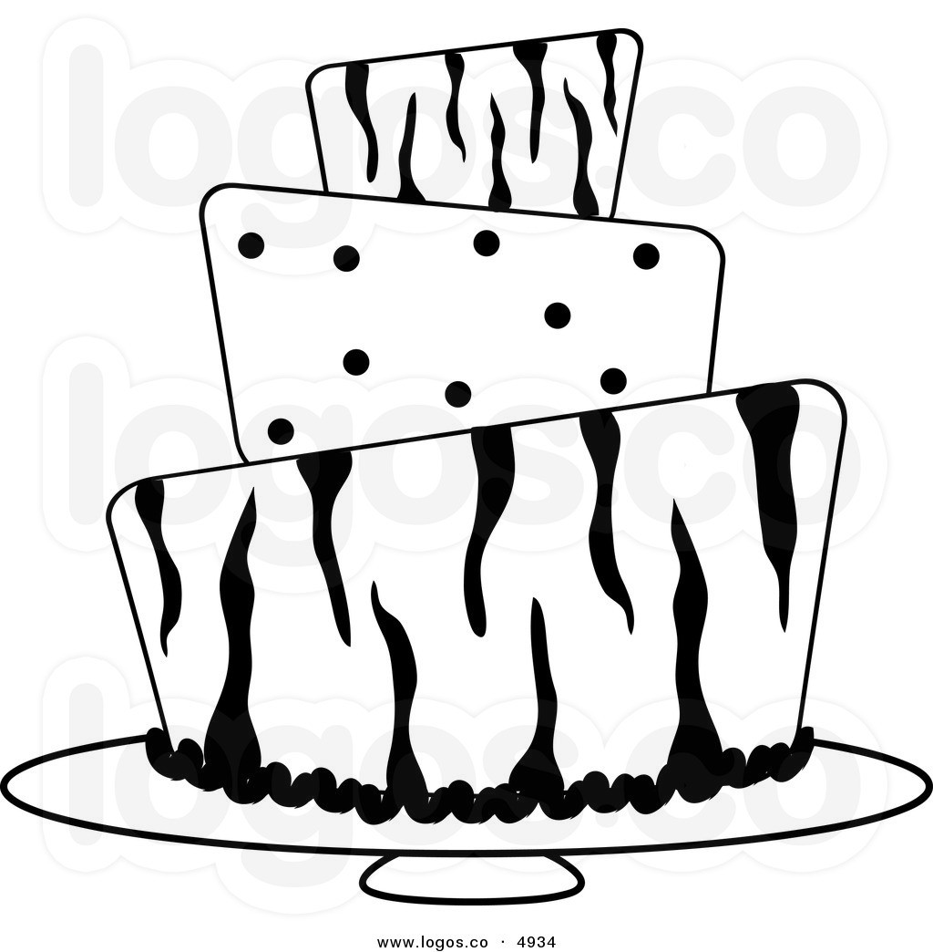 Clip Art Black And White Cake Clipart - Clipart Suggest