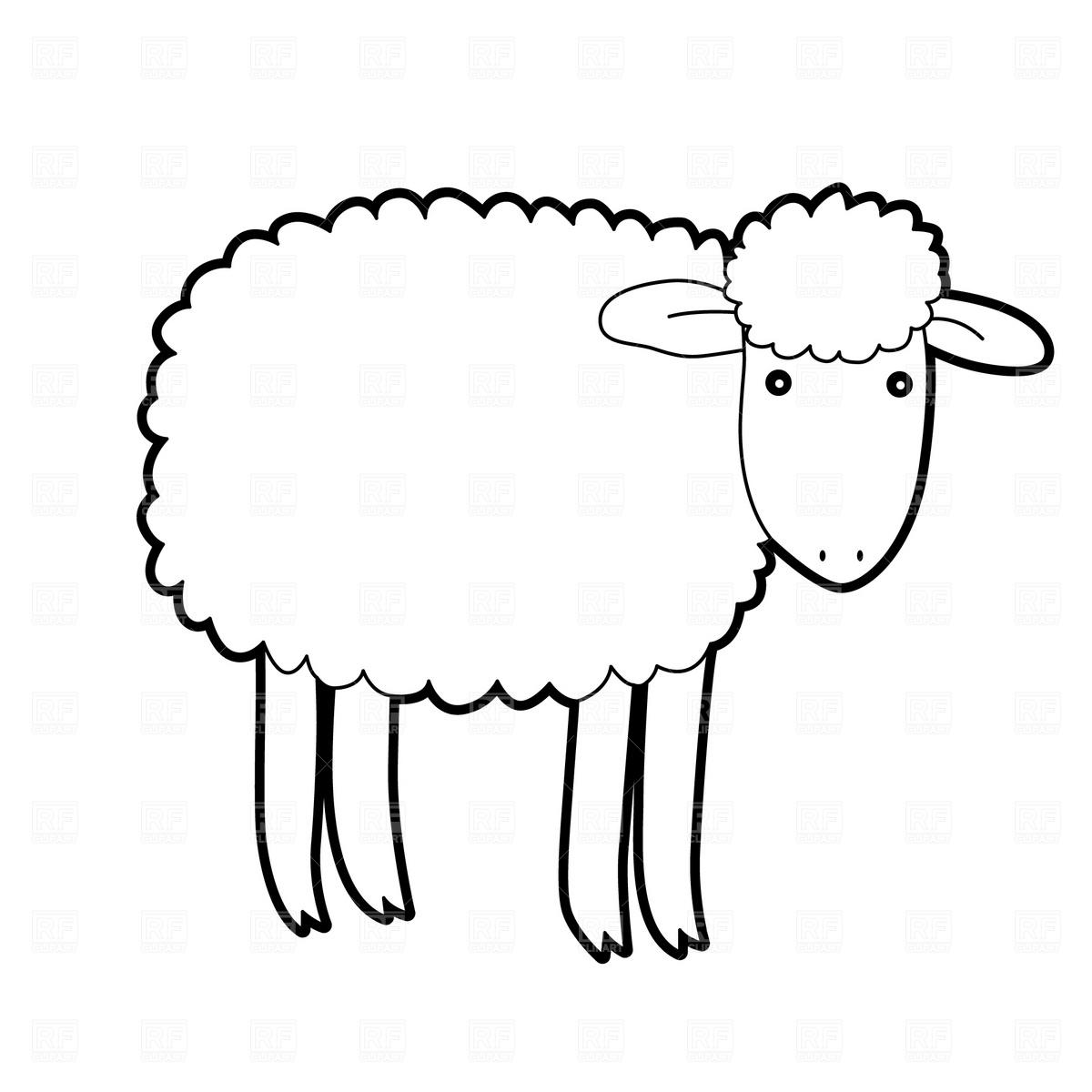 Cartoon Sheep Download Royalty Free Vector Clipart Eps