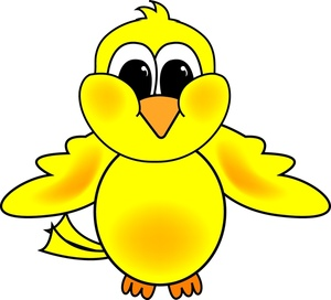Chick Clipart Image   Cute Yellow Baby Cartoon Chick