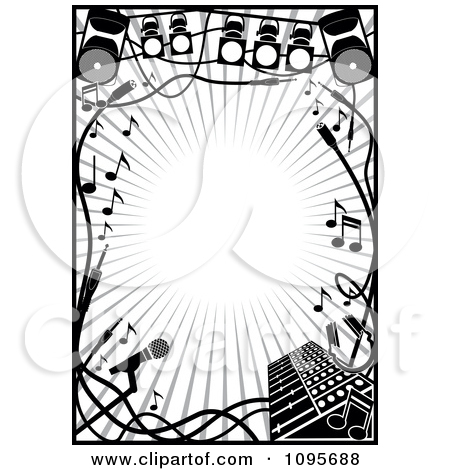 Stage Black And White Clipart - Clipart Kid