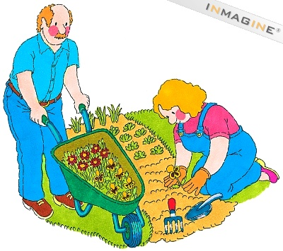 Couple Garden Clipart