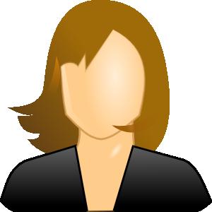 Female User Icon Clip Art At Clker Com   Vector Clip Art Online