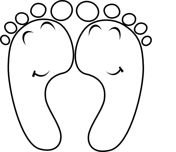 Happy Feet Outline Clip Art At Clker Com   Vector Clip Art Online