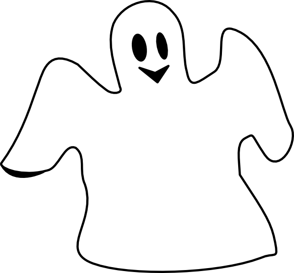 Happy Ghost Clip Art At Clker Com   Vector Clip Art Online Royalty