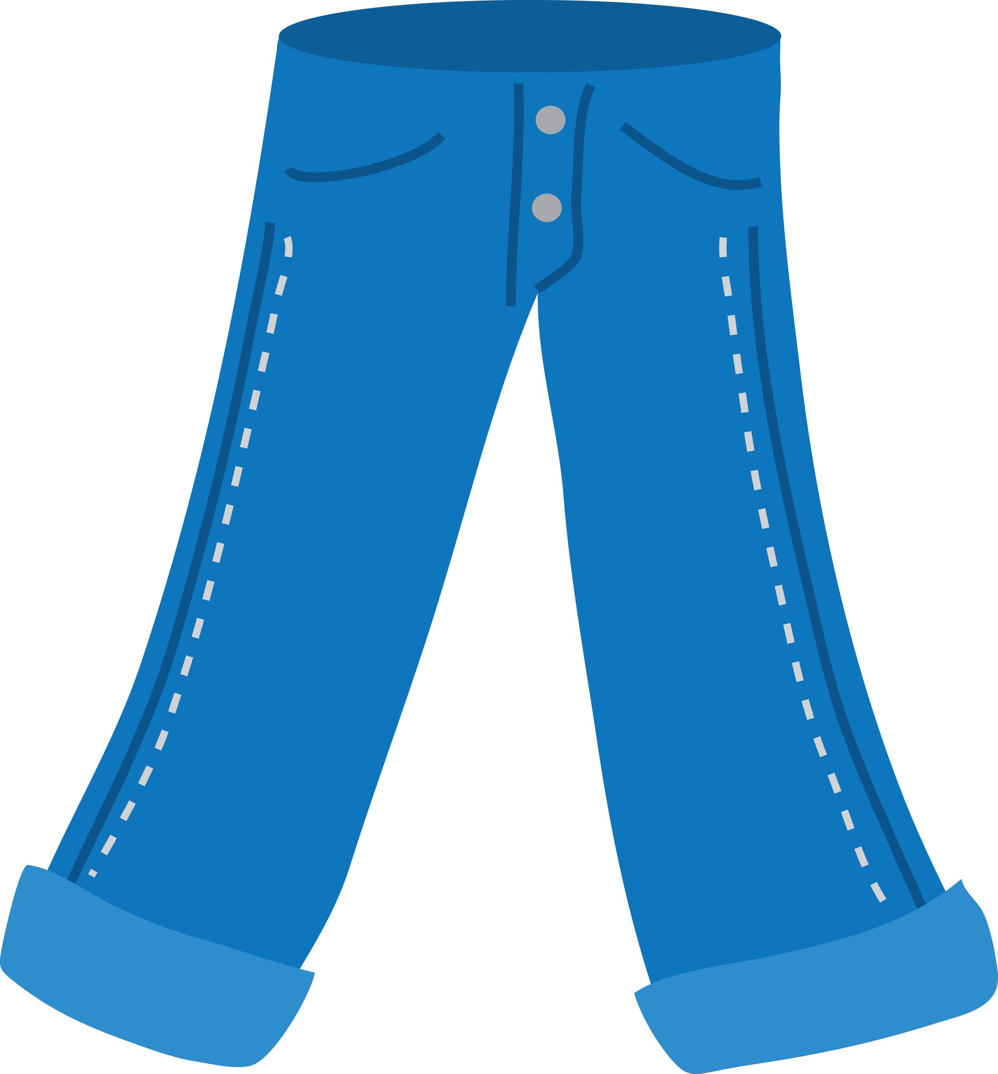 Inventive Denim   Blue Jean Clip Art