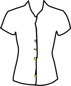 Ladies Shirt Black And White Clip Art At Clker Com   Vector Clip Art