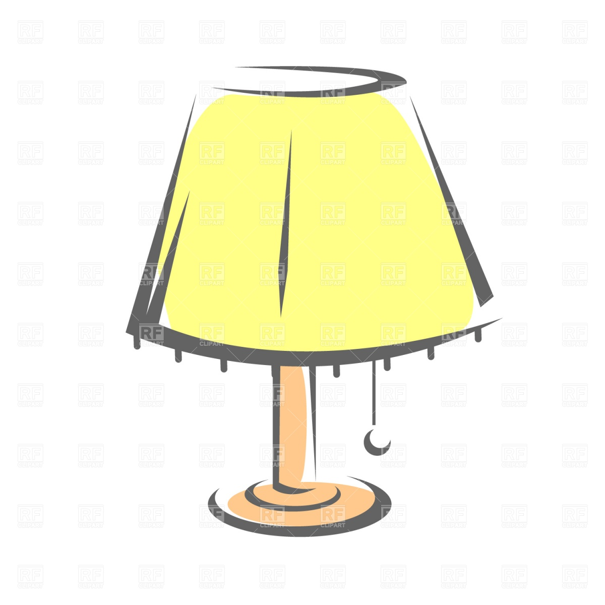 Lamp With Shade 1124 Objects Download Royalty Free Vector Clipart