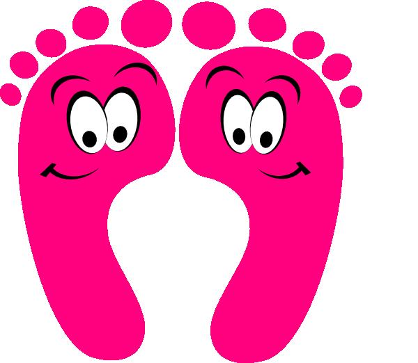 Pink Happy Feet Clip Art