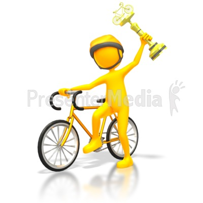 Racer Winner Gold Trophy   Sports And Recreation   Great Clipart For