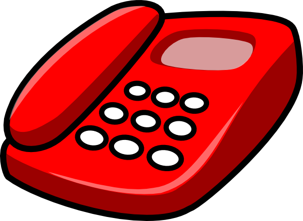 Red Telephone Clip Art At Clker Com   Vector Clip Art Online Royalty